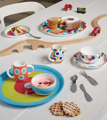 Alessini by Alessi, the designer kids dinner set