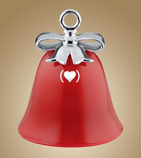 Dressed for X-mas by Alessi, the Special Edition bell which fights against HIV