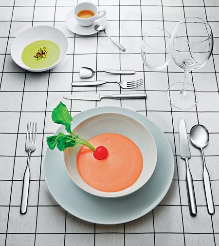 Collo Alto,  the new cutlery designed by Inga Sempé for  Alessi