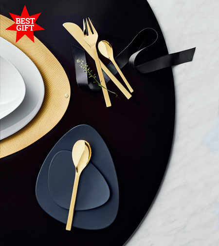 Colombina Collection by Alessi, a splash of gold for your table