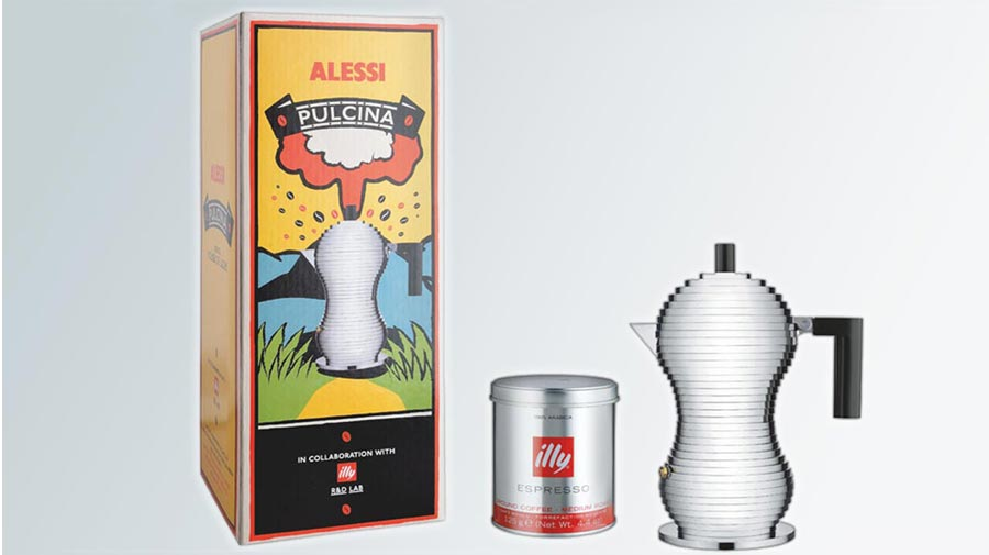 Pulcina, an extraordinary coffee maker by Alessi and Illy
