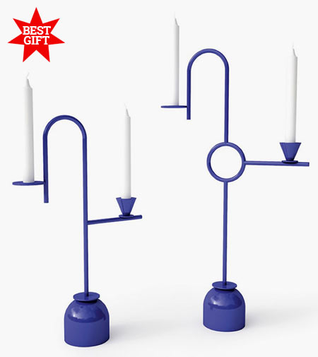 Blue Candleholders by Cappellini, chic candleholders