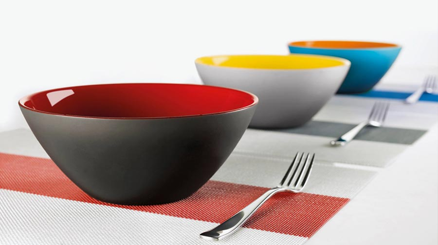 My Fusion by Guzzini, two-tone salad bowls