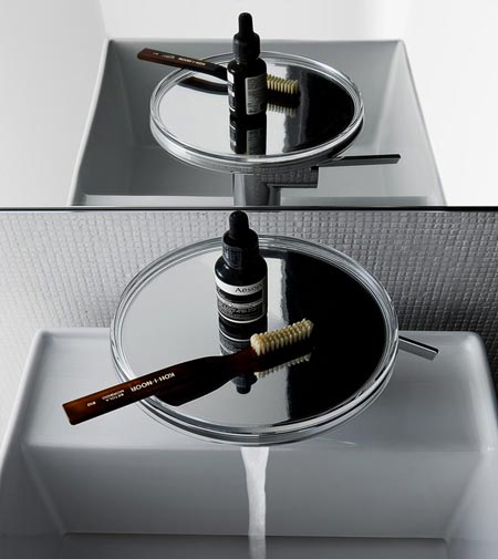 Kartell by Laufen introduces the mixer tap/ tray