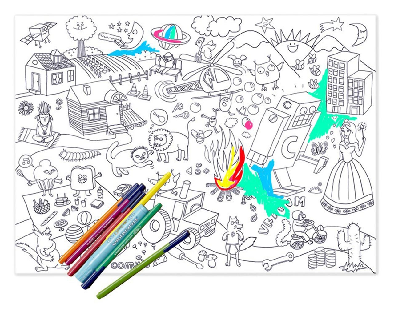 Moroni Gomma - OMY Design & Play Colouring Collection
