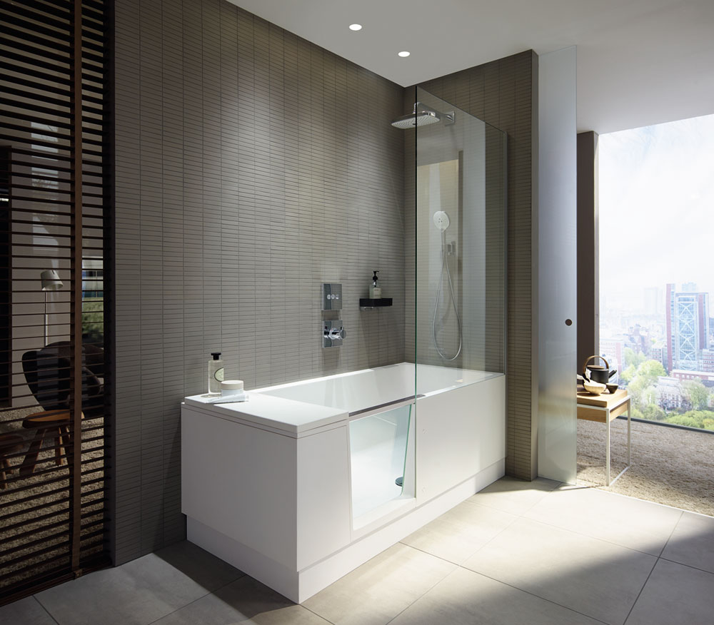 shower + bath  by duravit