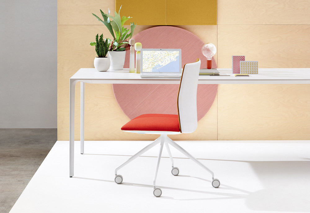 Kinesit is a simple task chair, with a light frame equipped with all the mechanisms of an office seat.