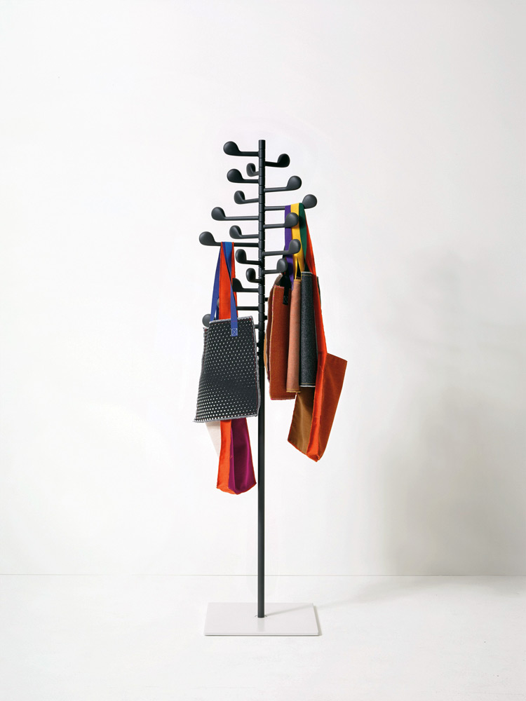Song is a clothes hanger with a cheerful functionality. It can either be freestanding or wall-mounted, and it consists of arms, shaped as musical notes, which can rotate independently from one...