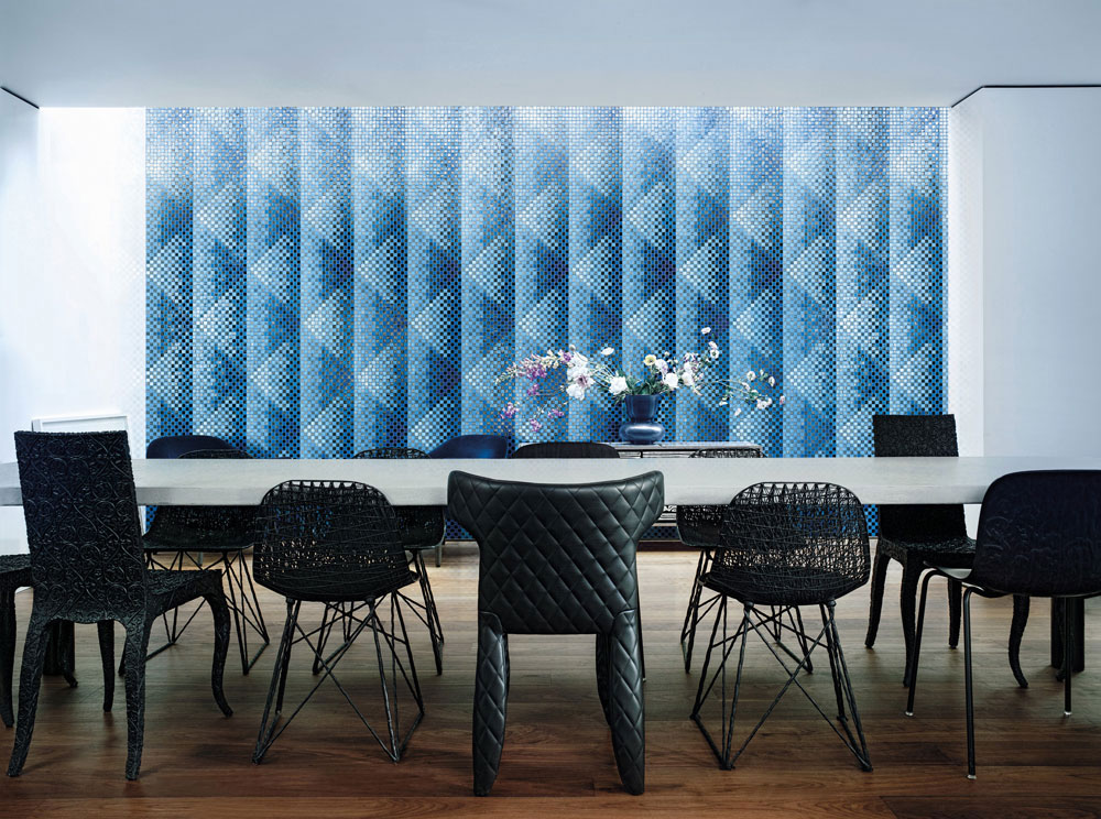 pyramid blue by bisazza