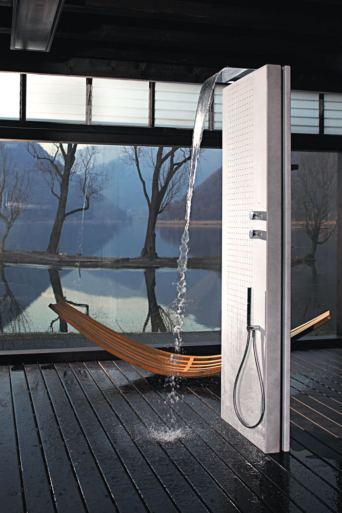 acquapura shower column by fantini