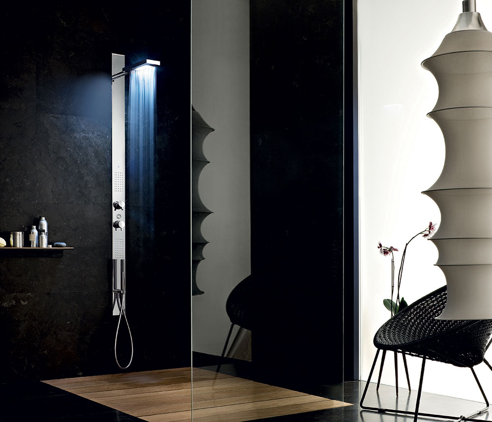 acquazzurra shower column by fantini