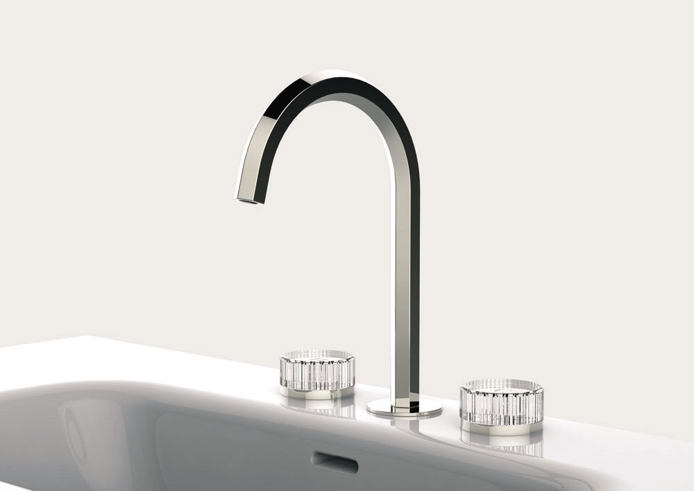 venezia glass handles tap by fantini