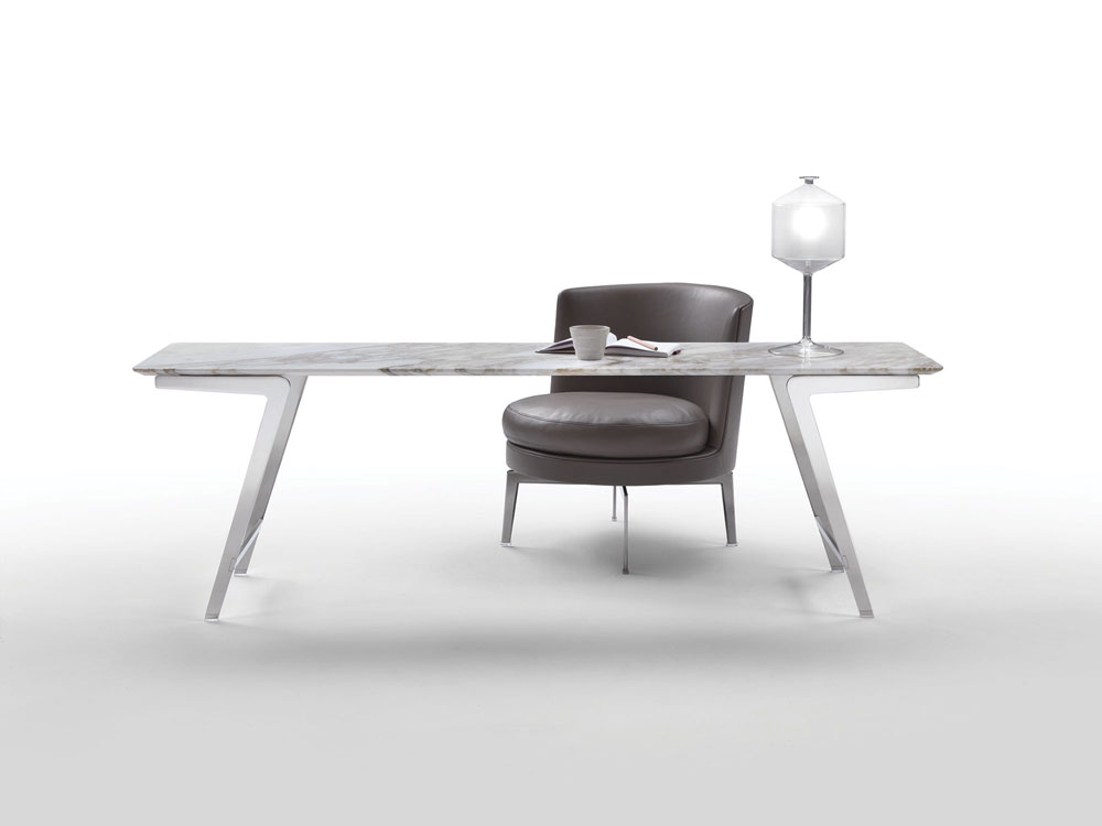 soffio table by flexform