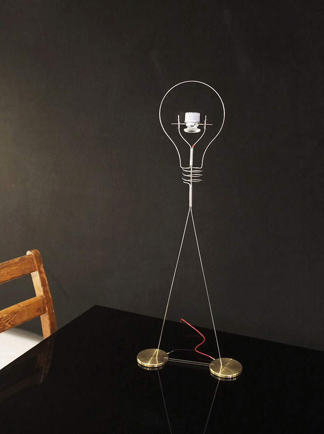 walking bulb lamp by ingo maurer