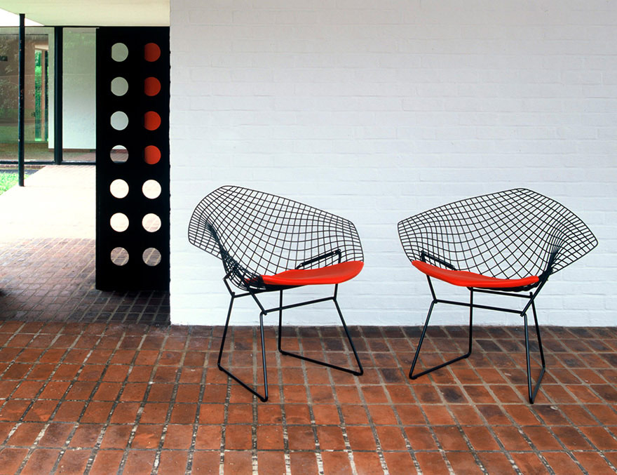 Poltroncina Diamond, Harry Bertoia, 1952