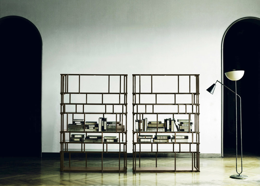 off cut bookcase living divani