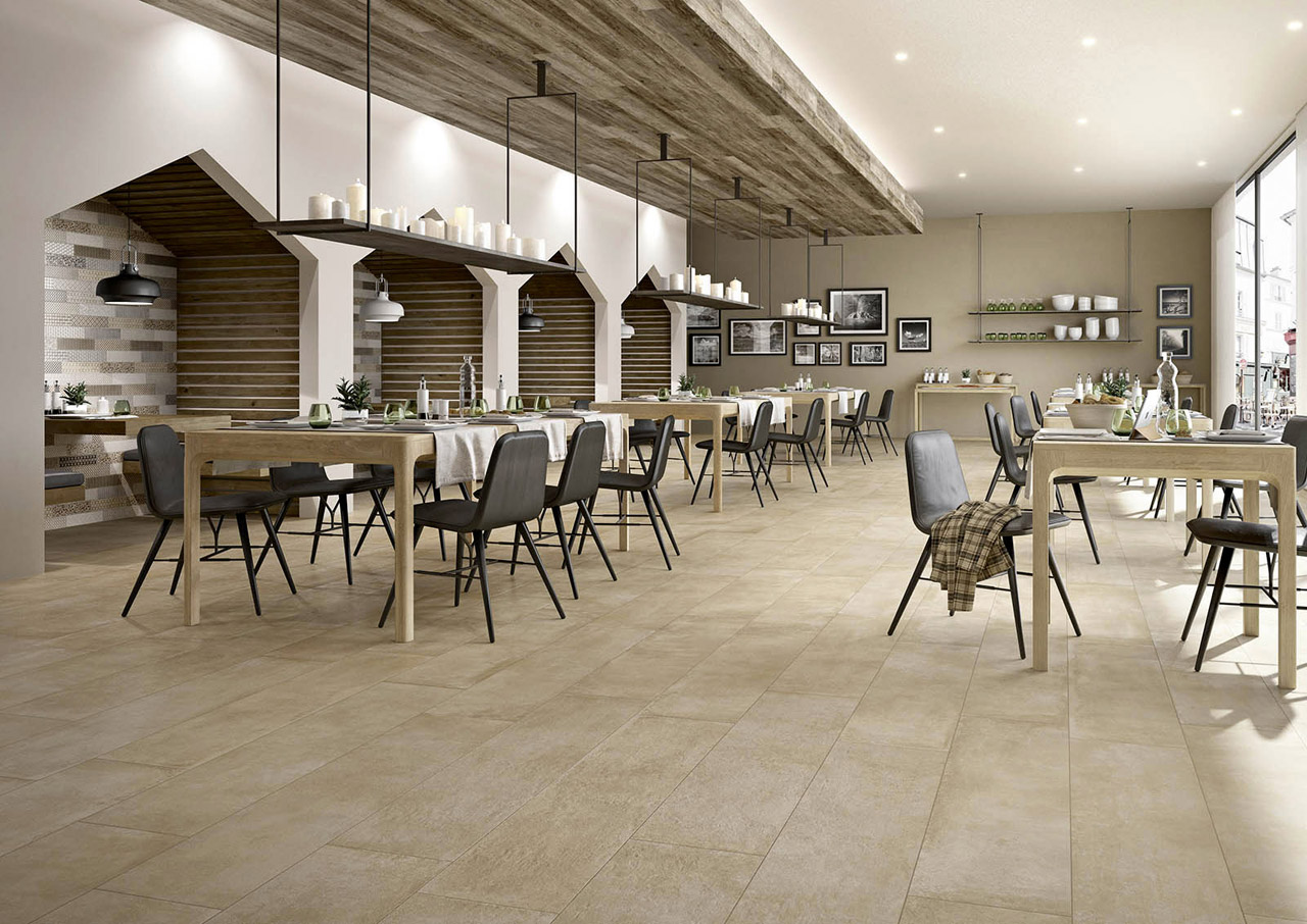 Clays is a range of floor tiles in fine porcelain stoneware, designed for private homes and large public buildings. The material qualities reference those of cement and Tuscan tiles, available i...
