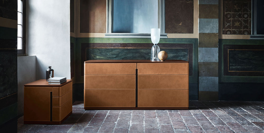 fidelio notte chest of drawers by poltrona frau