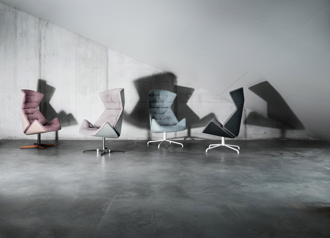 808 is an extra comfy armchair designed for complete relaxation; this is thanks to two sophisticated mechanisms which adjust the angle of both back and seat. 808 is upholstered in a exclusive...