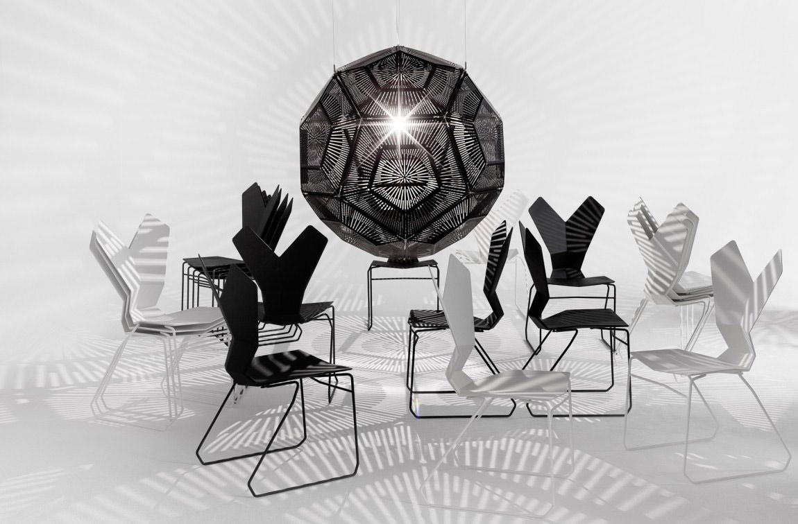 "With Y, Tom Dixon has brought conventional chair design to a whole new level. Nylon frame reinforced with glass fibre. The unique ""Y"" shaped backrest provides lumbar support and ergonomic rest f..."
