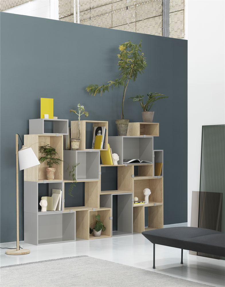 stacked bookcase by muuto