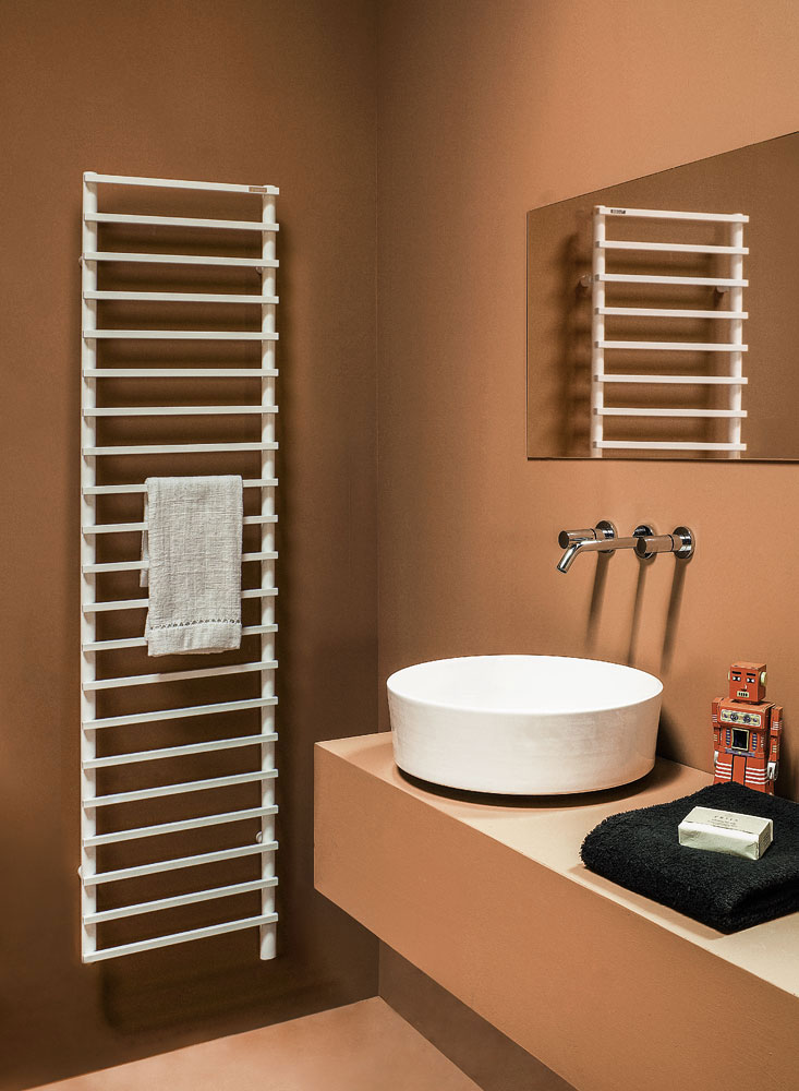 smart heated towel rack by tubes