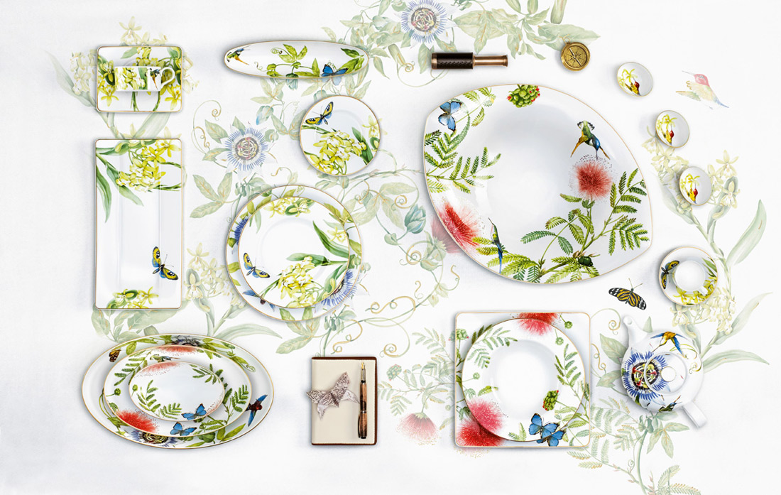 anmut amazonia plate set villeroy&boch
