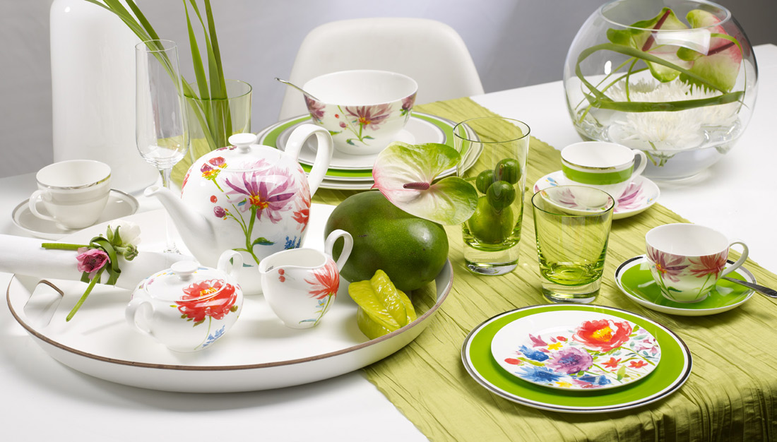 anmut flowers plate set villeroy&boch