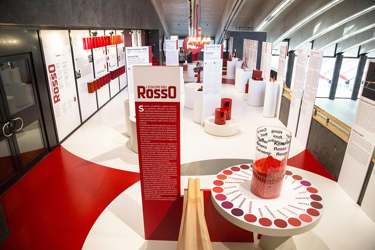 The shades of red: the Campari Gallery