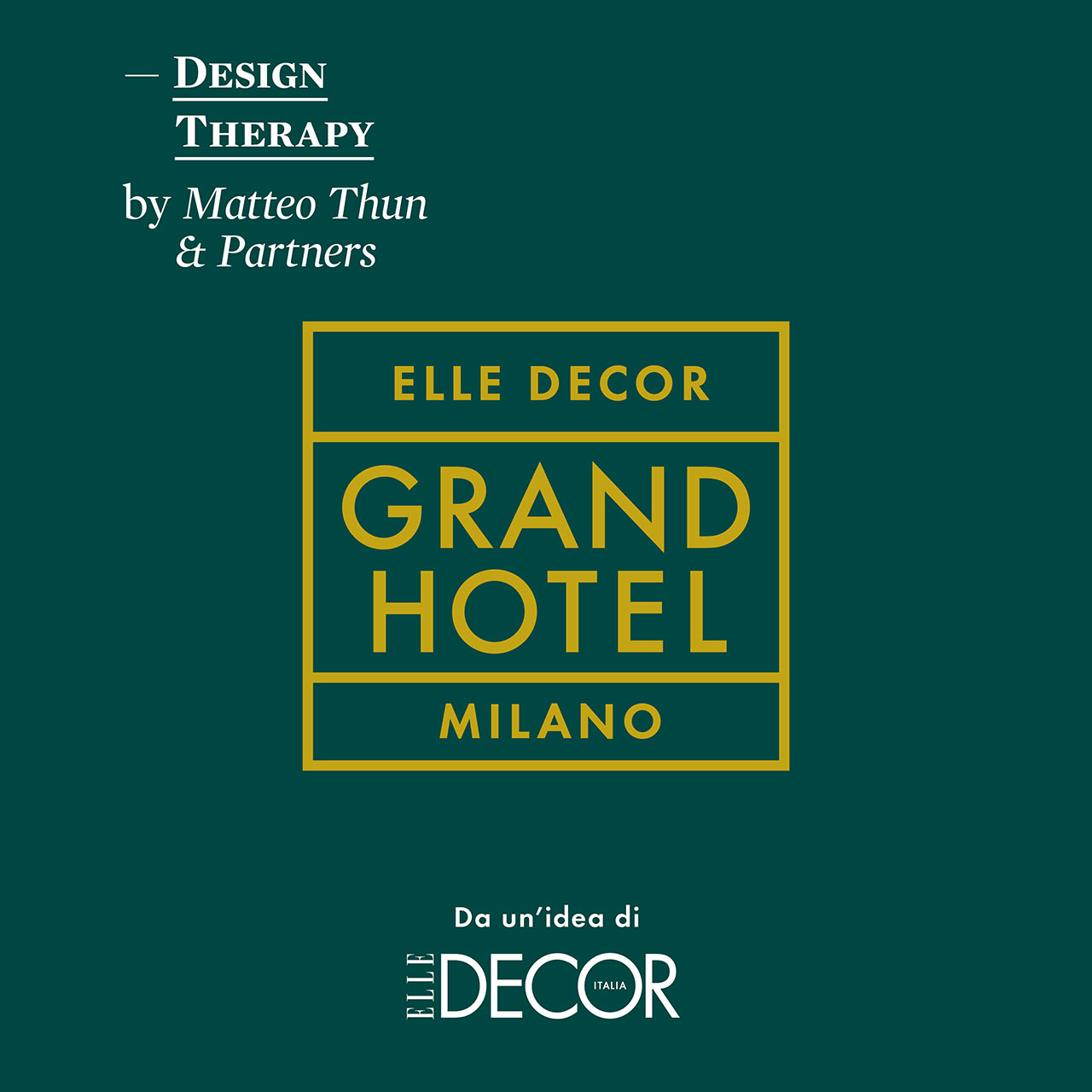 Elle Decor Grand Hotel. Design Therapy