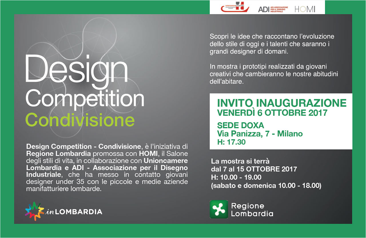 HOMI Design Competition Condivisione