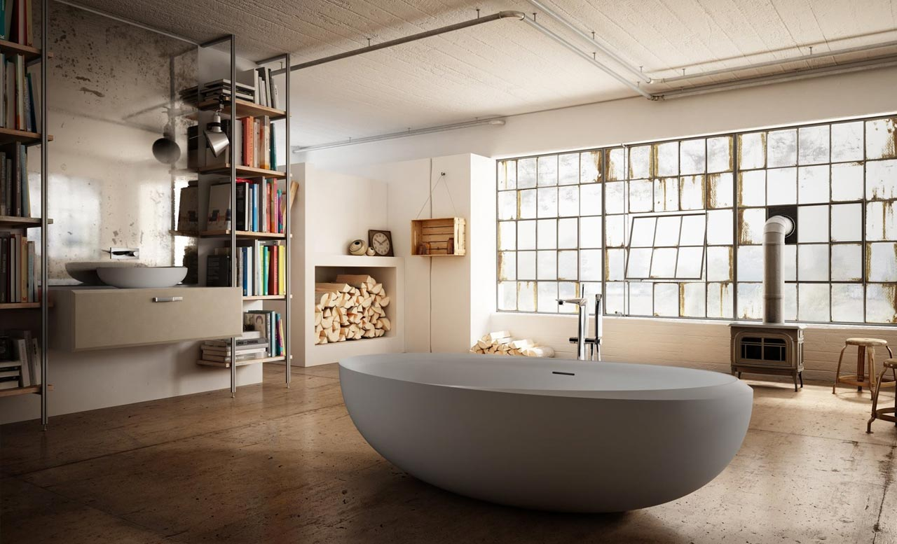 A freestanding bathtub for your urban lodge