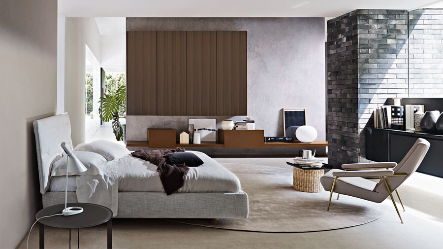 A neutral bedroom with a relaxed vibe