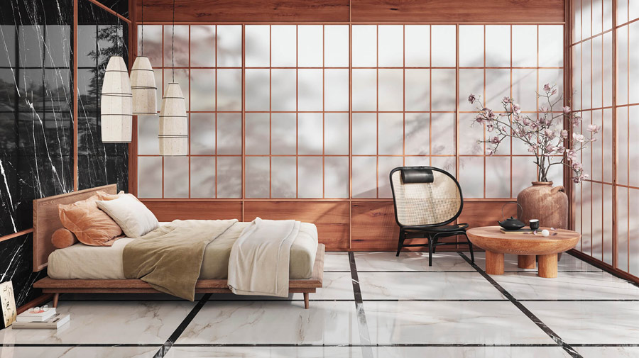 In the Japanese-style room, relaxation is a guarantee