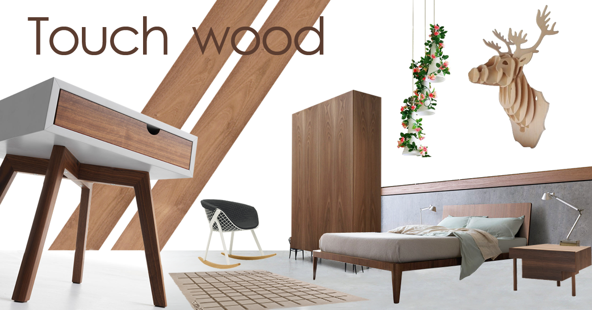 moodboard bedroom wood style