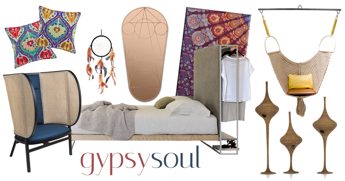 moodboard bedroom gypsy