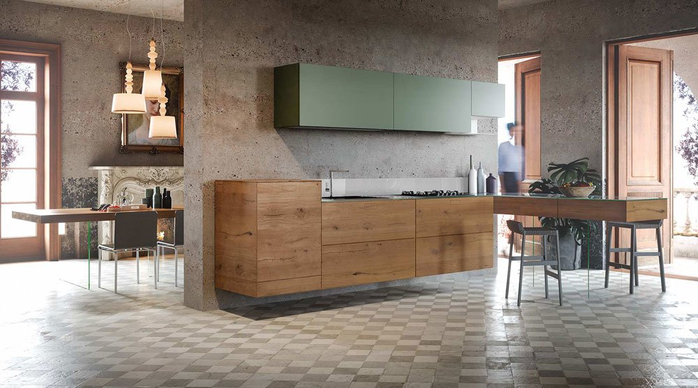 Wildwood kitchen, design Daniele Lago 2014, Lago.