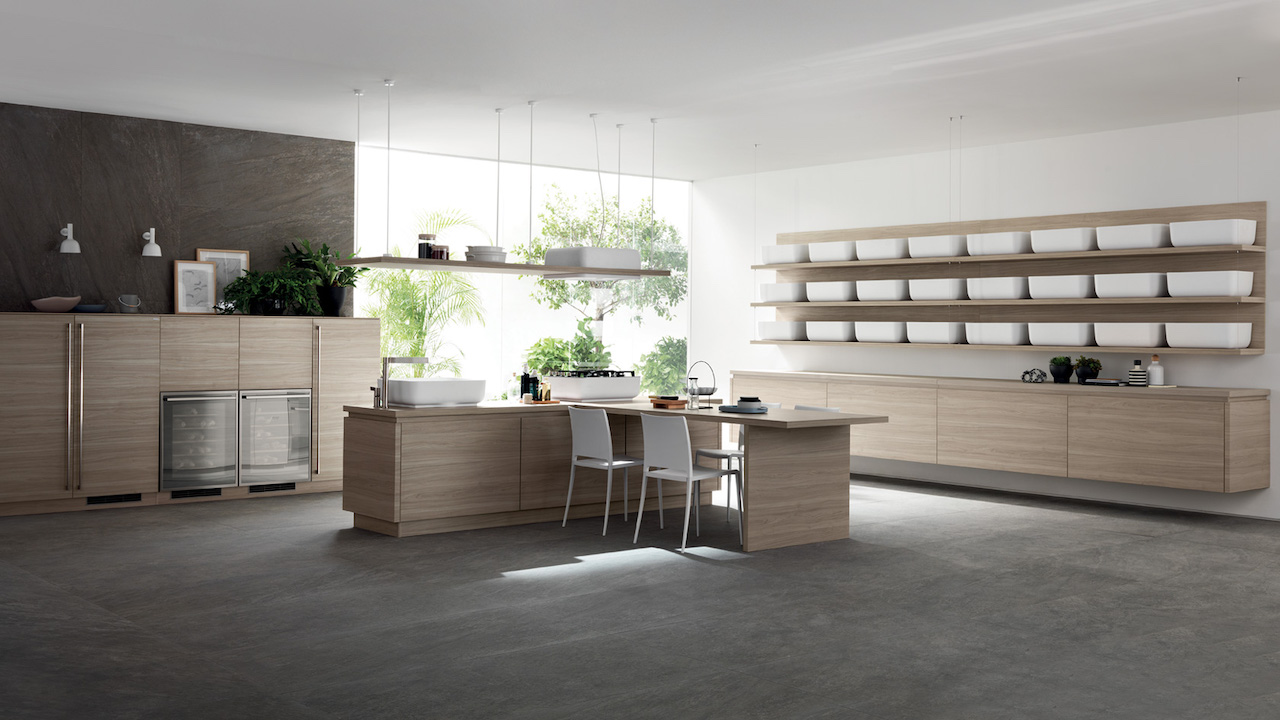Qi kitchen, design Nendo 2016, Scavolini.