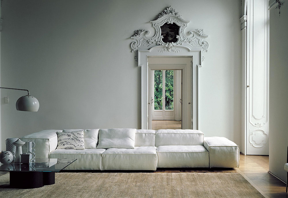Extrasoft sofa, design Piero Lissoni, Living Divani 2008