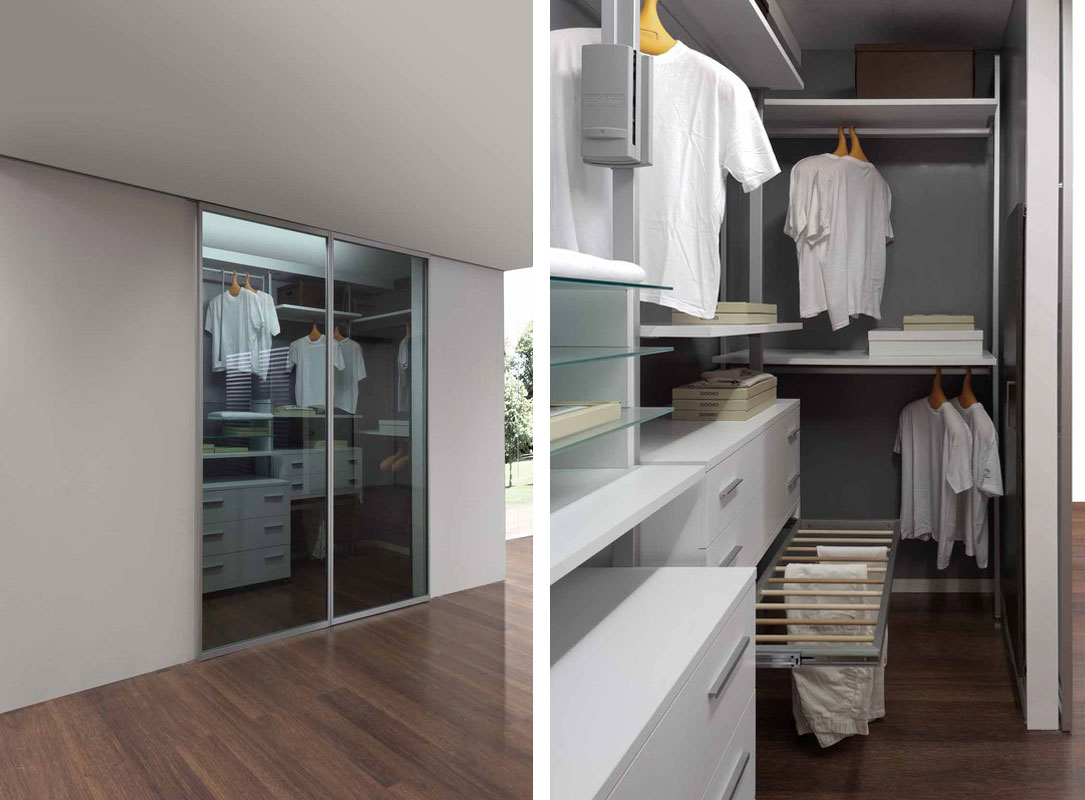 The tailor-made walk-in closet