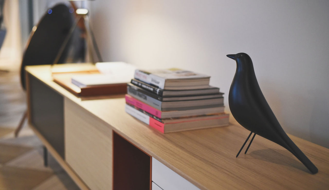 Statuetta Eames House Bird, design Charles and Ray Eames, Vitra