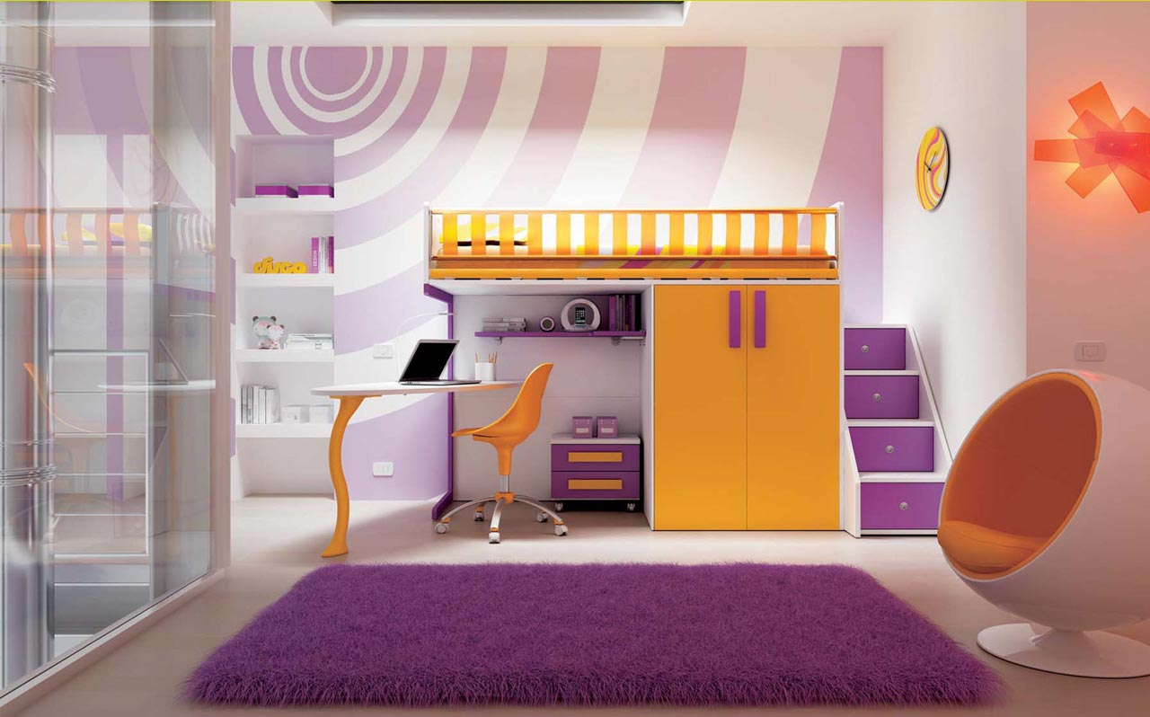Fluorescent Colours In The 60s Kid S Room