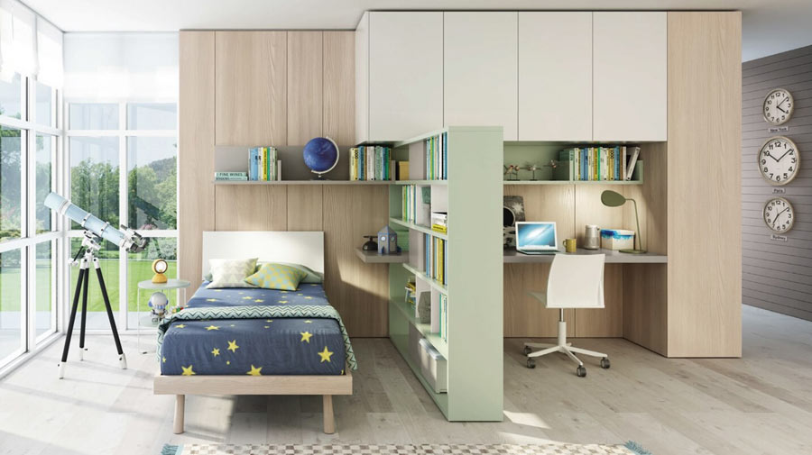 The study area: compact yet spacious