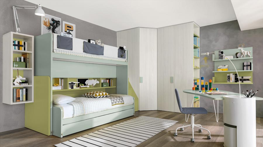 A fully equipped bunk bed is the perfect space-saving idea