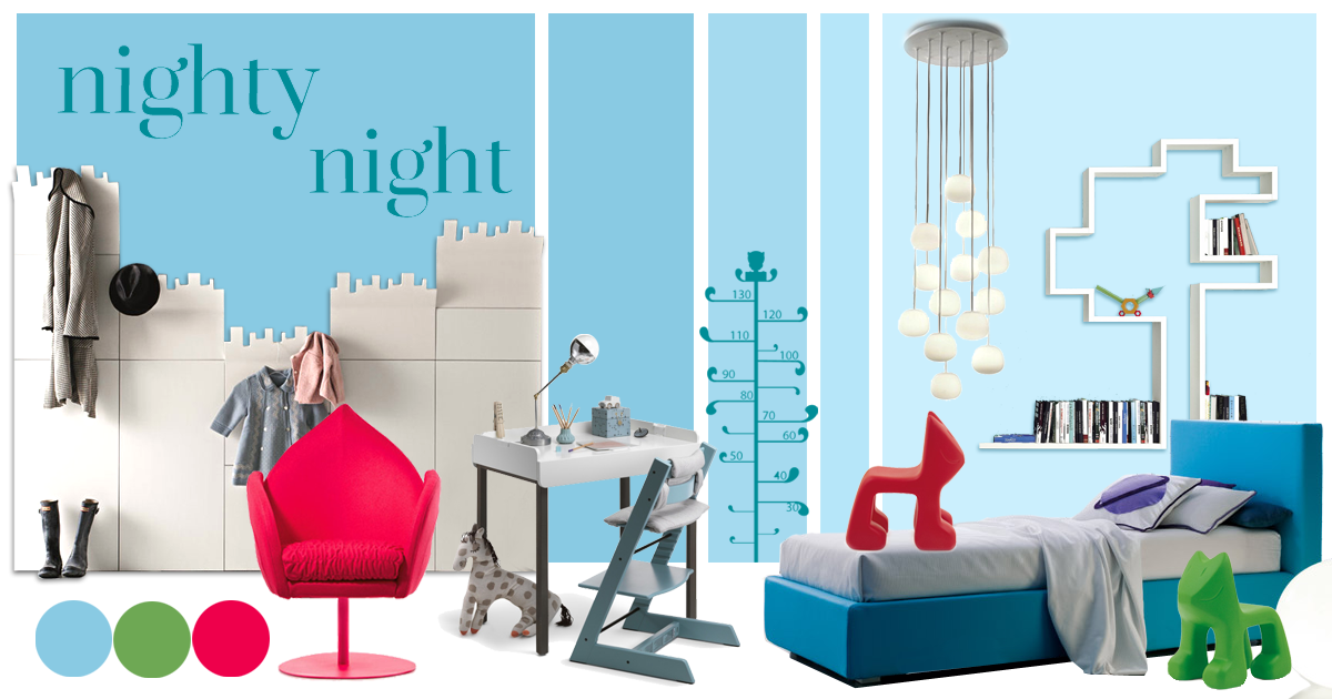 moodboard kids' room nighty night