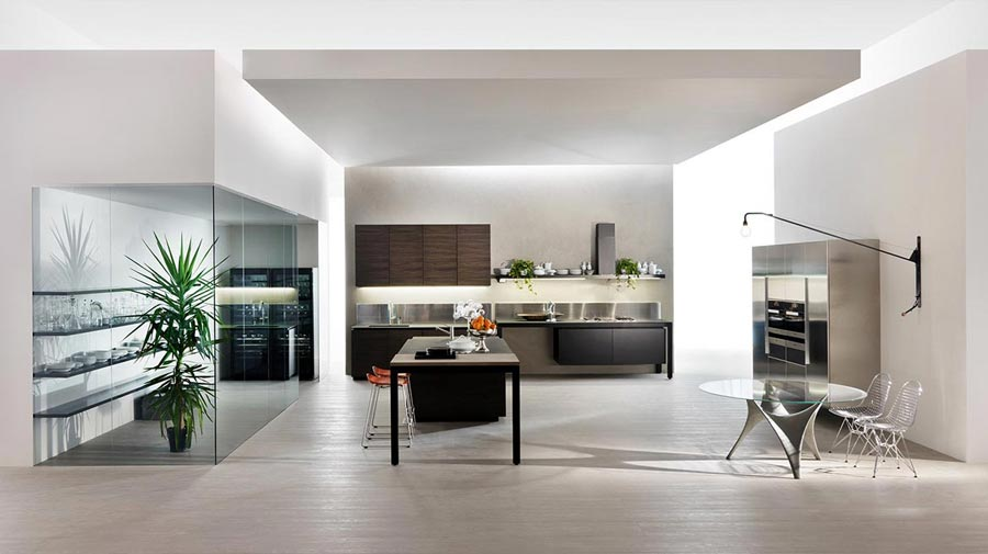 In the kitchen, high-tech meets your guests