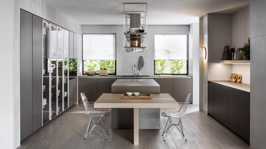 A functional freestanding kitchen