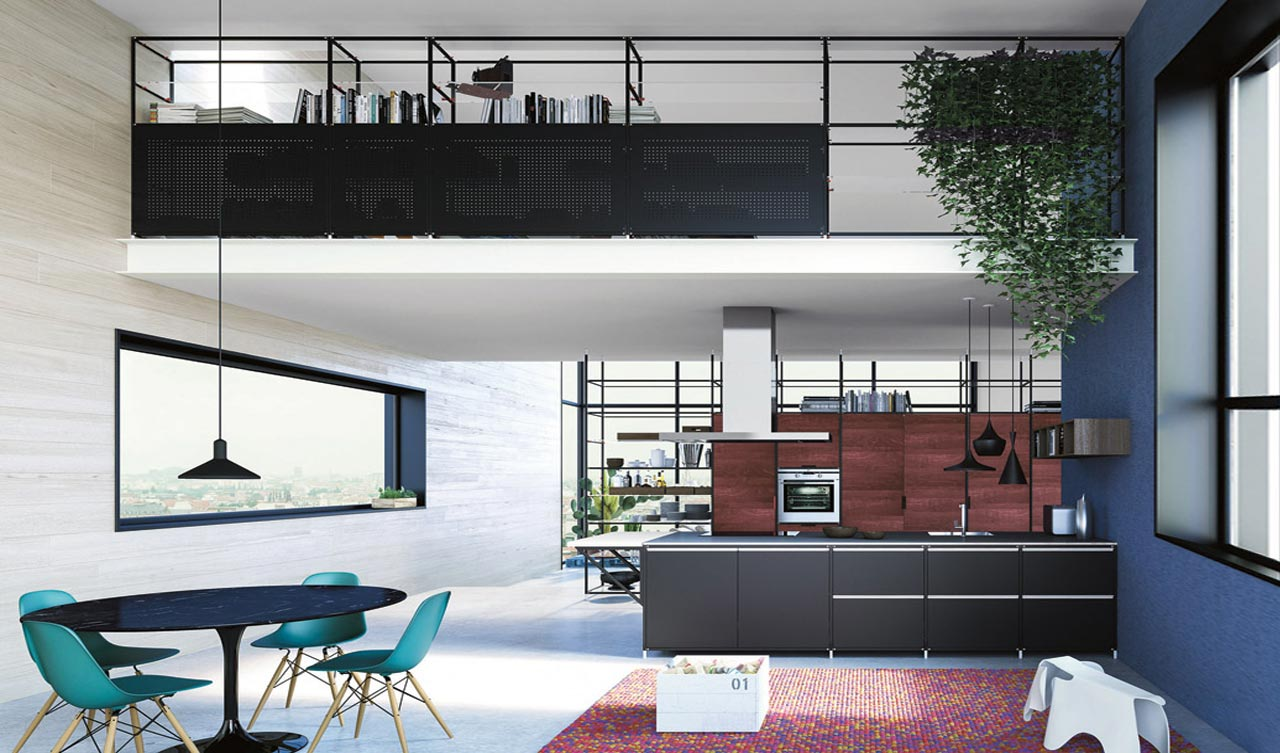 Demode, cucina Meccanica (engineered by Valcucine)