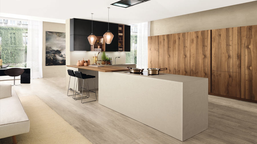 Industrial style and sustainability meet in the kitchen