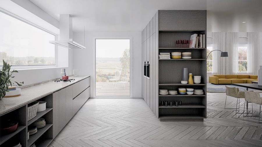 Ordered elegance for this simple kitchen